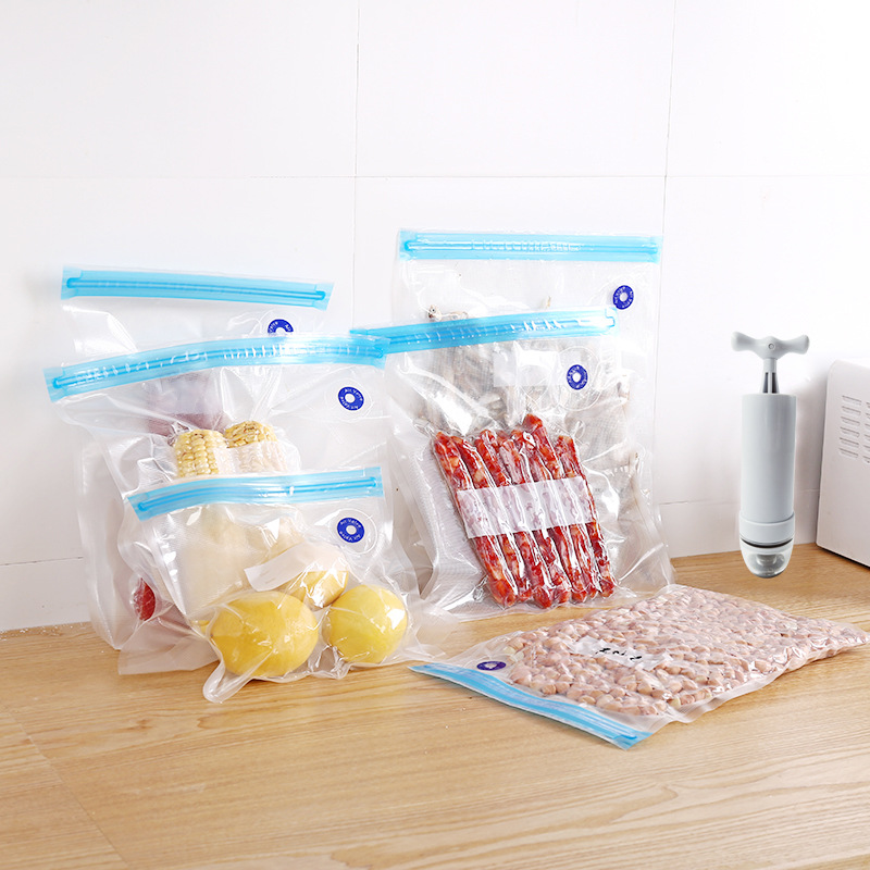 Custom food vacuum compression bag preservation freezer bag E