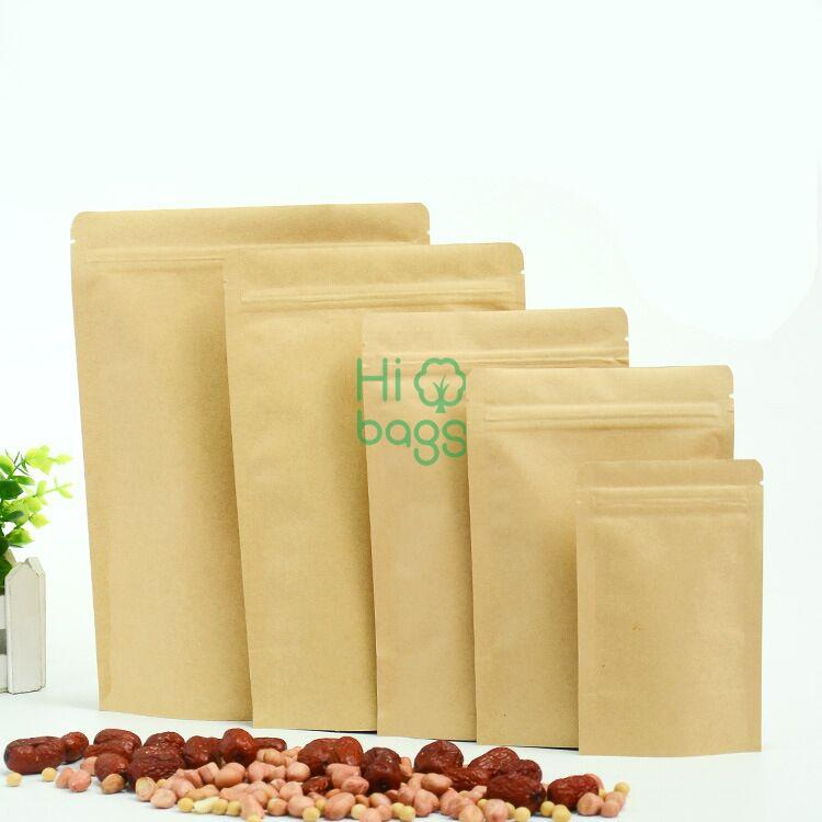 Kraft Paper Coated With Aluminum Dried Fruit Stand Up Pouch Ziplock Bag N1