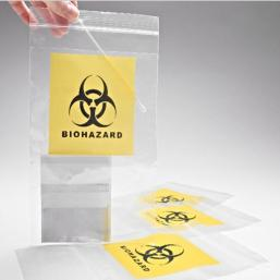 LDPE transparent Biohazard specimen bag for hospital ziplock bag