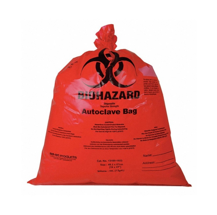 Biodegradable Autoclavable Biohazard Bag, Biohazard Garbage Bag manufacturer E