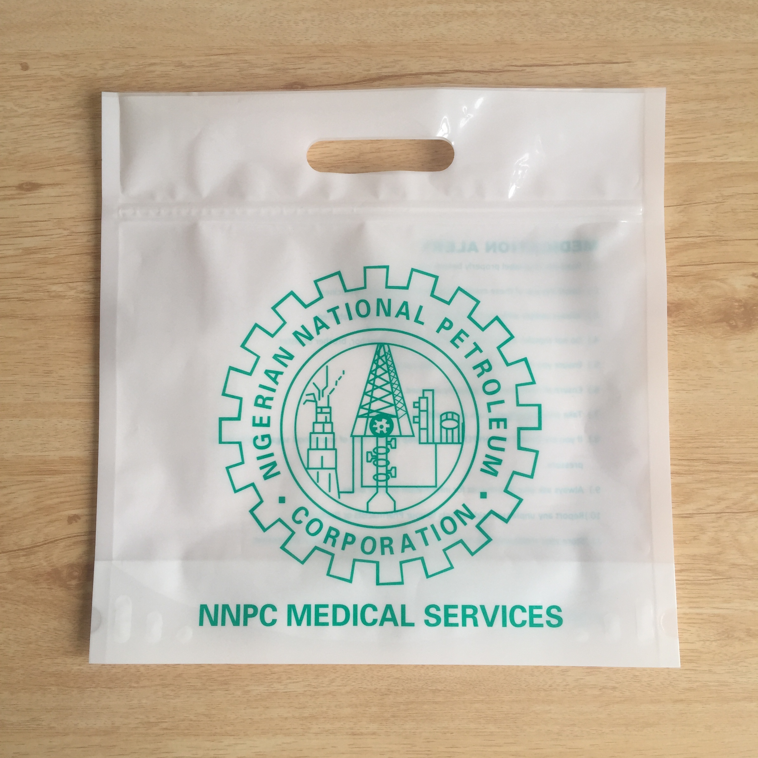 Big Waterproof Medical Zipper Bags for Medicine Use MW03