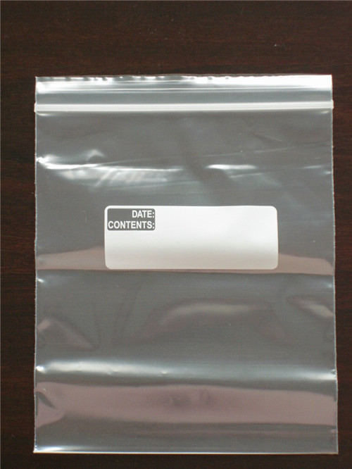 Clear Ziplock Poly Storage Bag W114