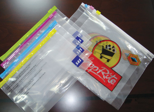 LDPE clear plastic slider zip lock bag A