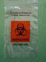BIO HAZARD SPECIMEN BAGS  3 walls with back flap  A