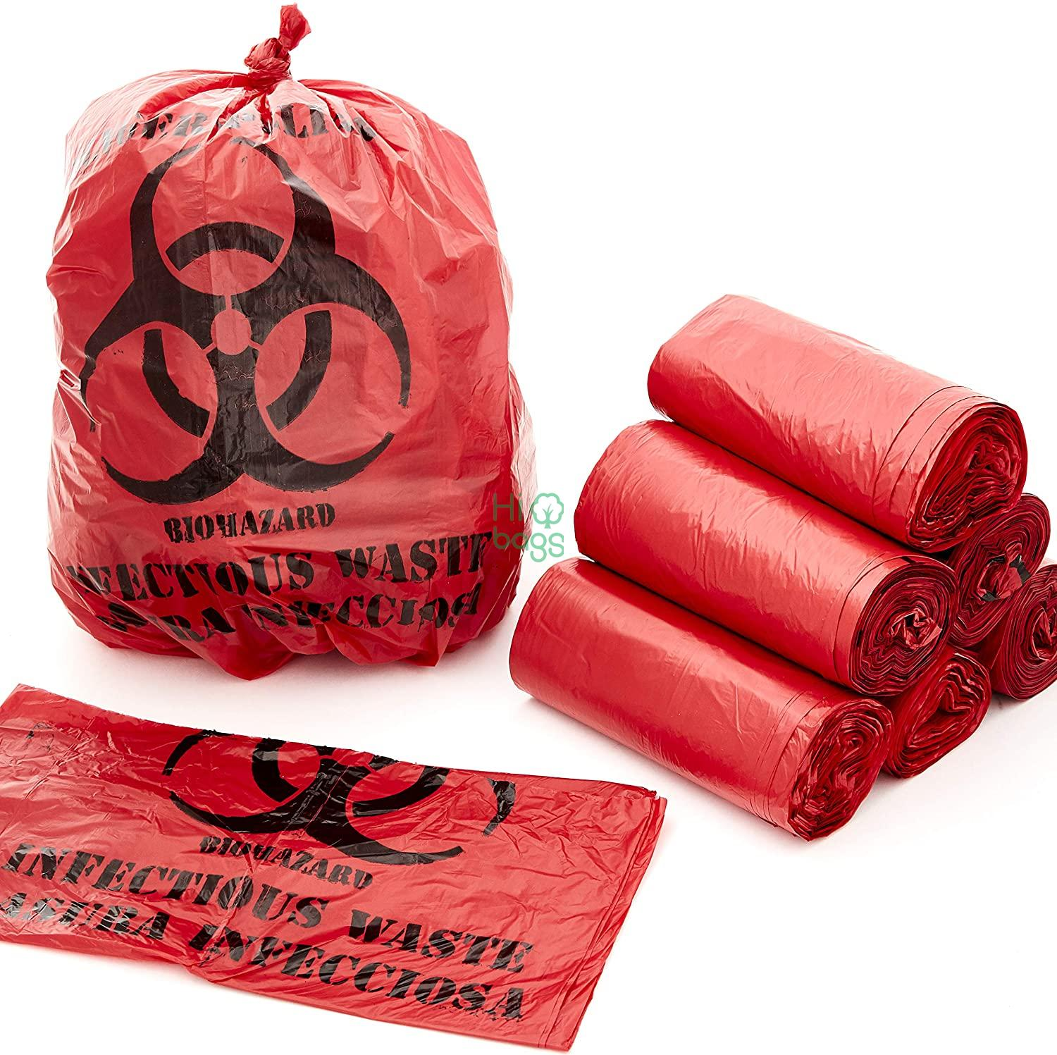 No Leakage Hospital Grade Biological With Red Hazard Mark Specimen Bag M