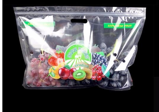 Transparent PET/CPP plastic fruit protection packaging bag mango bag with handle A
