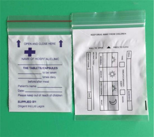 Plastic Medicine Drug Bag W13