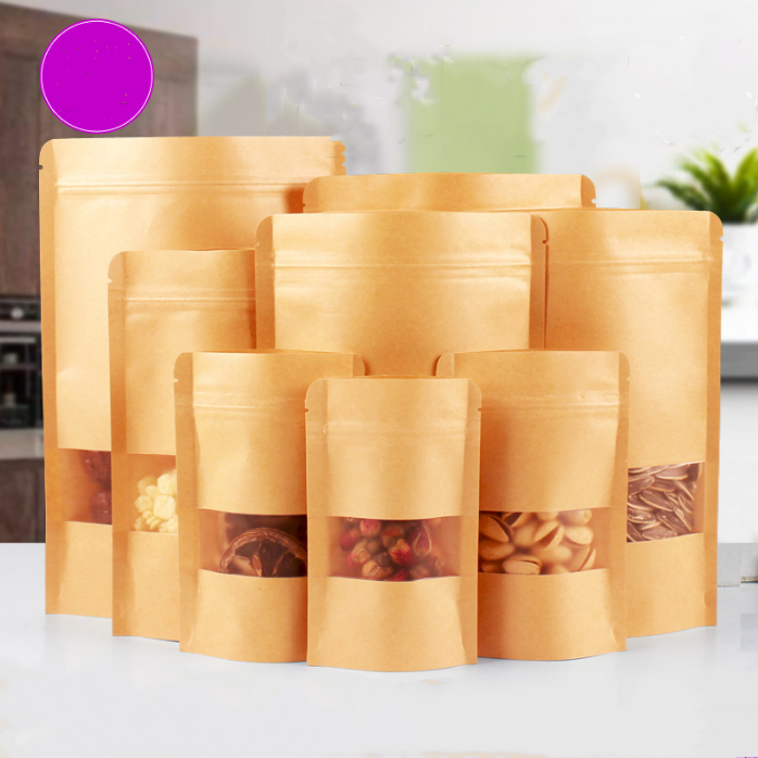 Customized Stand Up Pouch Kraft Paper Bag for Food Y