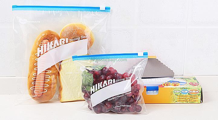 Transparent PE Reclosable Slider Bags for Food Packaging A5