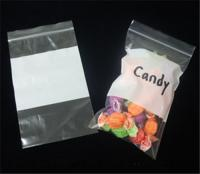 Zip Lock Candy Plastic Bag with White Block W30