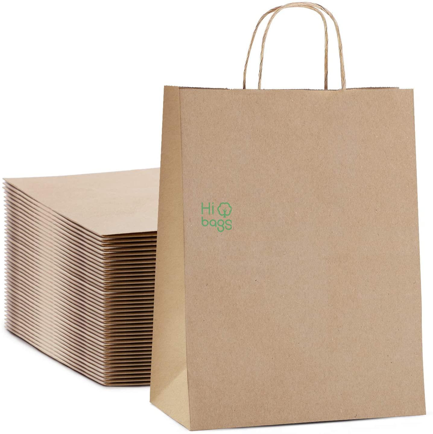 Brown Kraft Gift Bags with Handle Large Paper Shopping Retail Paper Bags Bulk M