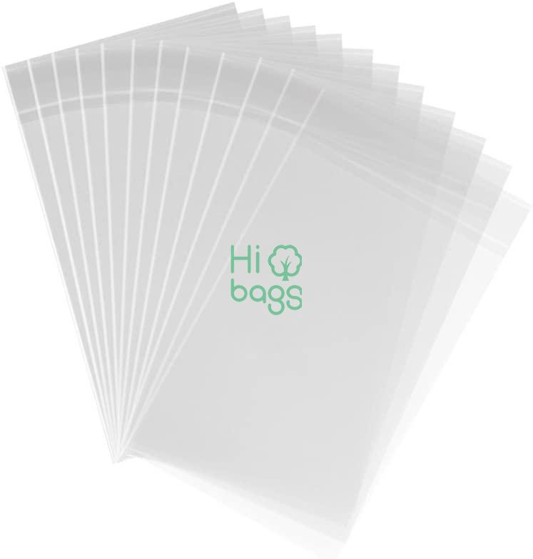 Clear Plastic Bags Thick Self Sealing OPP Cello Bags for Bakery Cookies Decorative Wrappers M