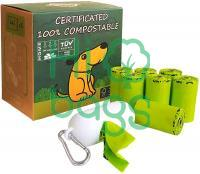 Compostable Leak Proof Home Compostable Pet Waste Bags M