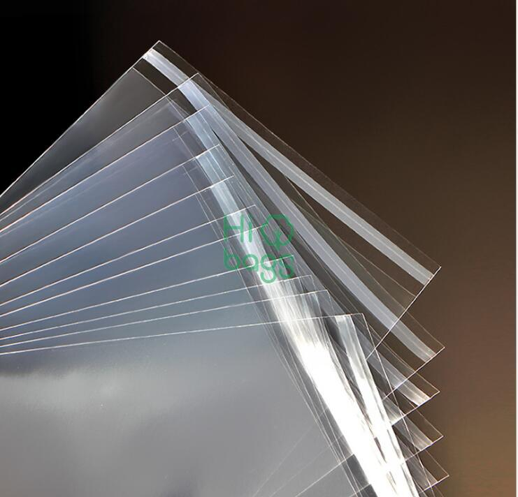 Qingdao manufacture customized self-adhesive transparent opp bag