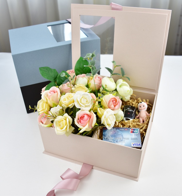 Custom-made Beautiful Gift Packaging Box Heart Water Cup Cosmetic Gift Box Candy Receiving Box        V