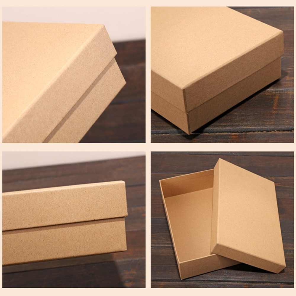 Gift box  cover lipstick cosmetics New Year gift box packaging box kraft paper box shirt gift box square    V