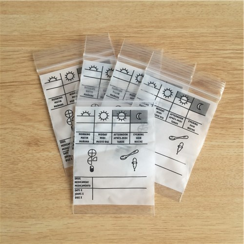 LDPE Custom Printing Medical Ziplock Bag  A