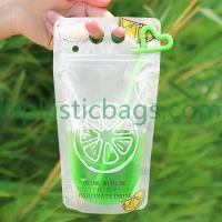 High Quanlity Promotional Cold Or Hot Drink Stand Up Zip Lock Bags L