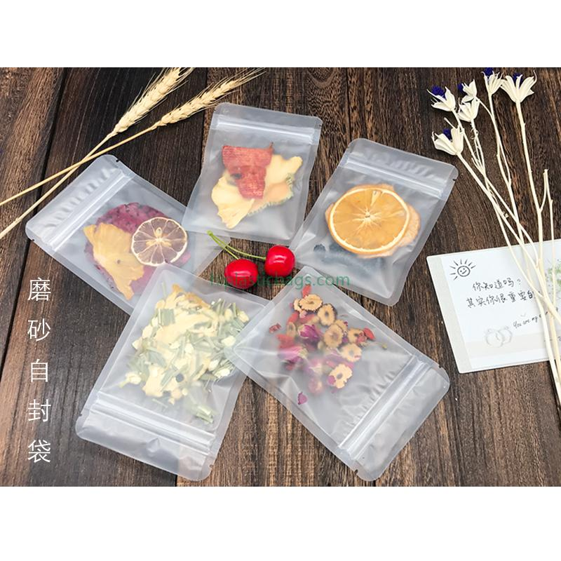 Matte Translucent  Snacks Zip Lock Bags E