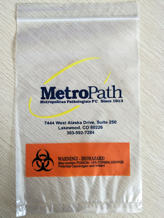 Biohazard Symbol Zipper Lock Plastic Bag