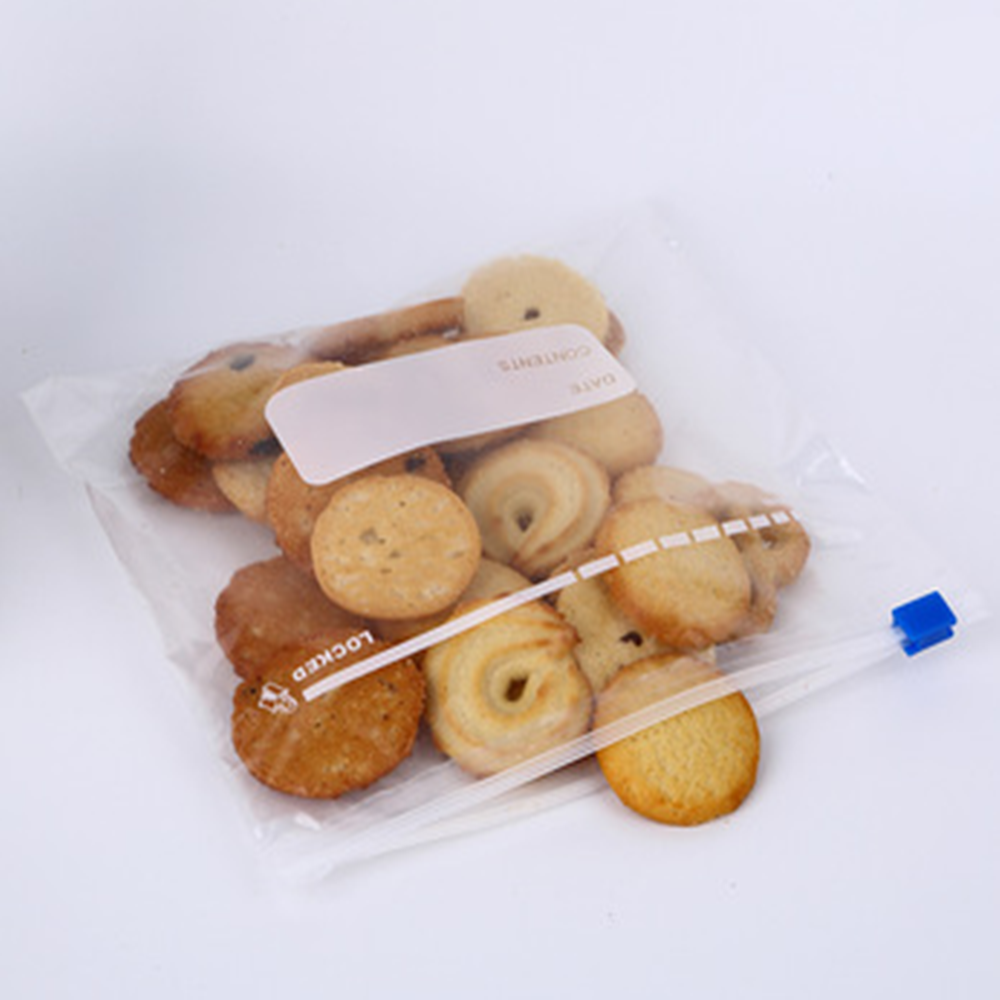 Custom Cheap Eco Friendly Food Transparent Plastic Slider Zipper Bag N1