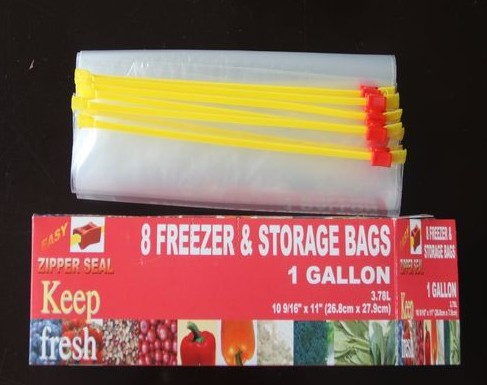 Slider food packaging bags A