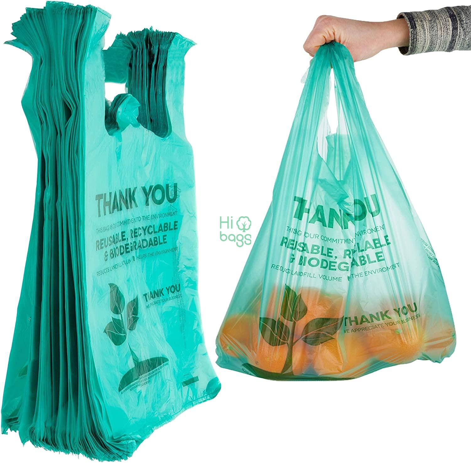 Eco Grocery Biodegradable Plastic Reusable Supermarket Shopping Bags M