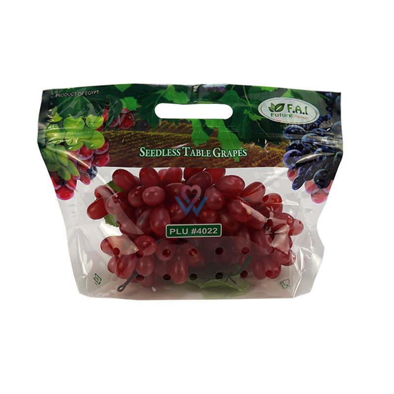 Factory supply custom plastic fruit packaging bag grapes packaging bag E