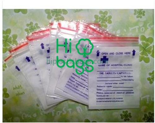 Medical zip poly bags A