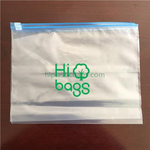 Slider clear plastic bags...