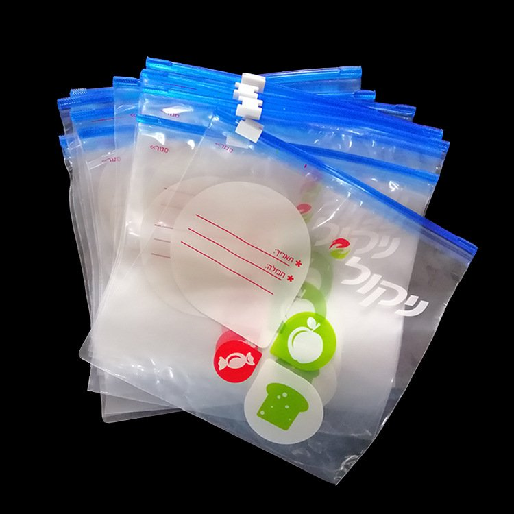 Factory Custom Food grade slider bag fresh-keeping bag with printing E