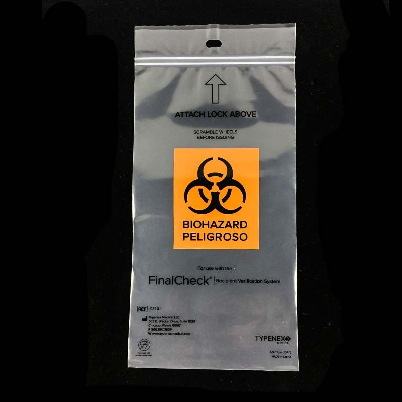 plastic manufacturer BioHazard Zip Lock Medical Specimen Bags E