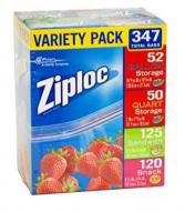 Ziploc Gallon, Quart, Sandwich, and Snack Storage Bags  A