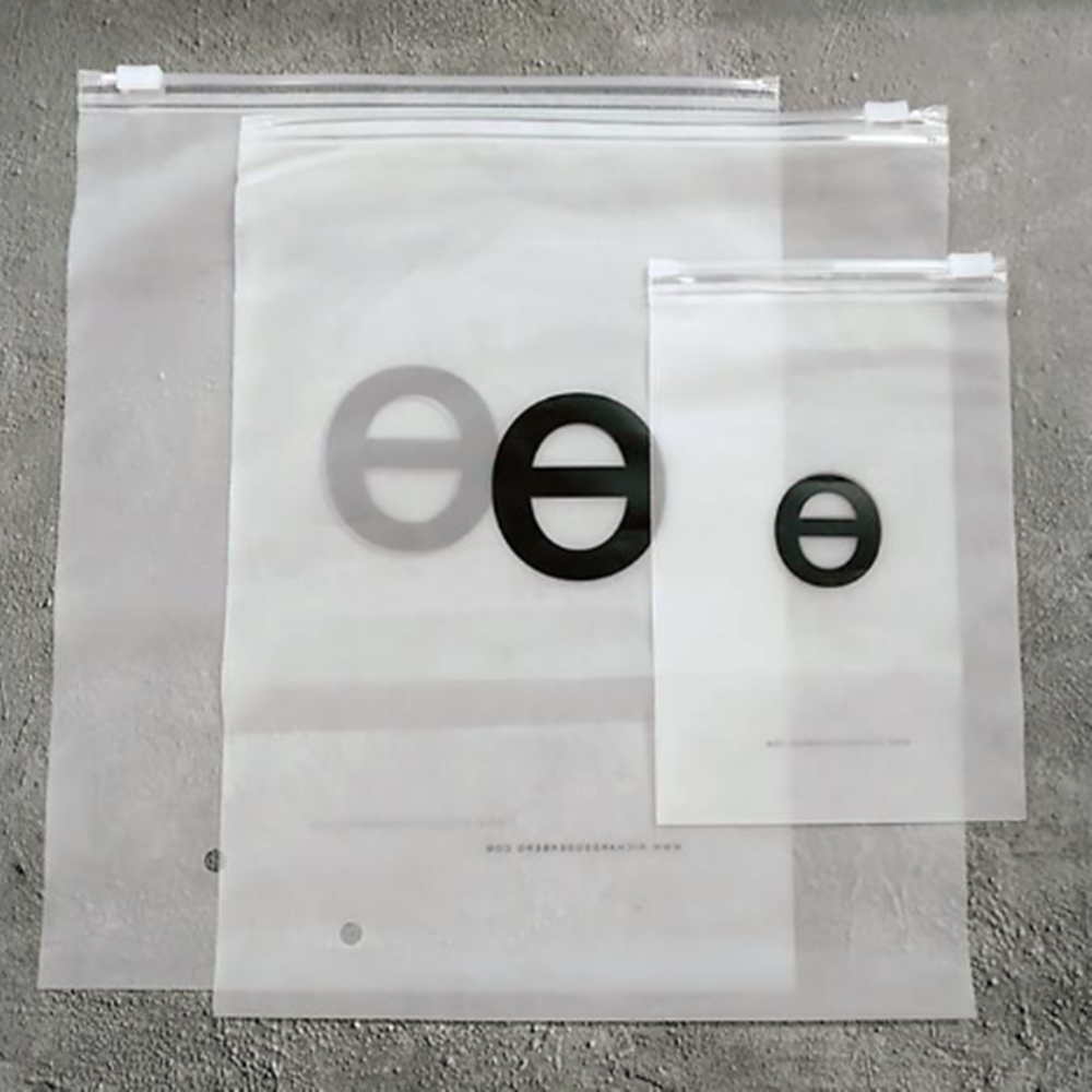 Wholesale custom zip lock bags with logo clothing packaging PE bag printed plastic poly bag N